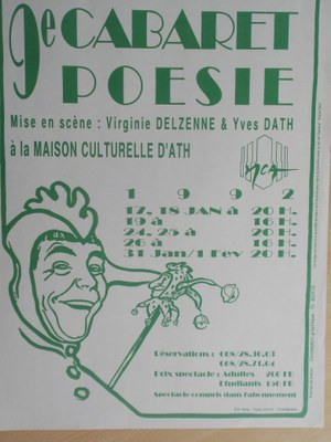 Neuvième Cabaret Poésie